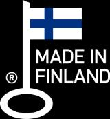 The Key Flag is a registered collective mark. It demonstrates that the product has been manufactured in Finland.